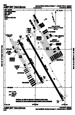 Manassas Rgnl/harry P. Davis Field Airport (HEF) diagram