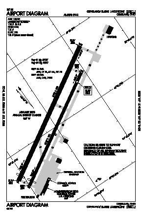 Burke Lakefront Airport (BKL) diagram