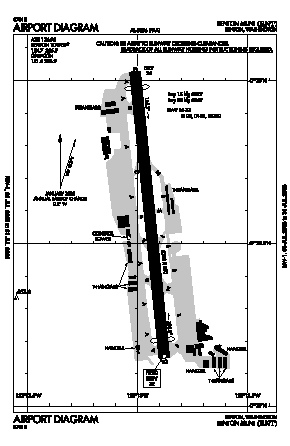 Renton Municipal Airport (RNT) diagram
