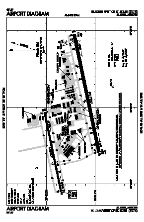 Spirit Of St Louis Airport (SUS) diagram