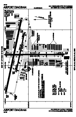 Gillespie Field Airport (SEE) diagram