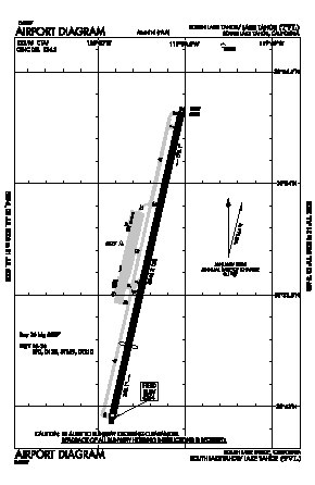 Lake Tahoe Airport (TVL) diagram