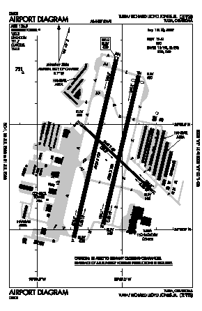Richard Lloyd Jones Jr Airport (RVS) diagram
