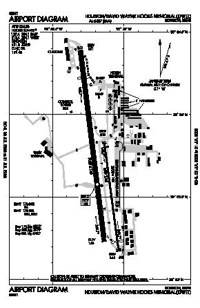 David Wayne Hooks Memorial Airport (DWH) diagram