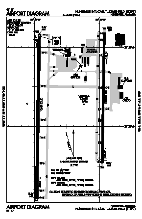 Huntsville Intl-carl T Jones Field Airport (HSV) diagram