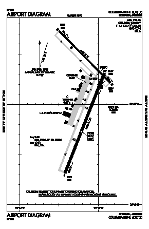 Columbia Regional Airport (COU) diagram