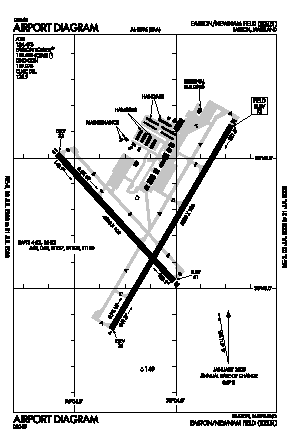 Easton/newnam Field Airport (ESN) diagram