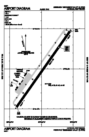 Greenbrier Valley Airport (LWB) diagram