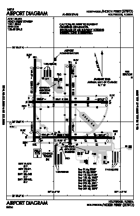 North Perry Airport (HWO) diagram