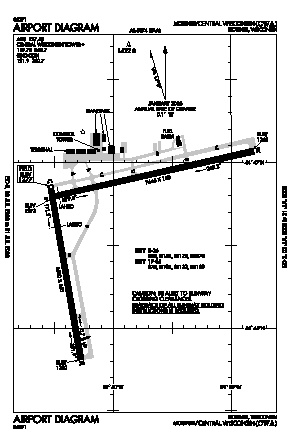 Central Wisconsin Airport (CWA) diagram