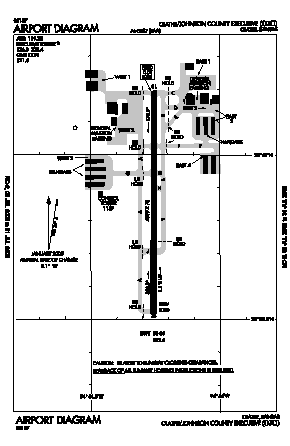 Johnson County Executive Airport (OJC) diagram