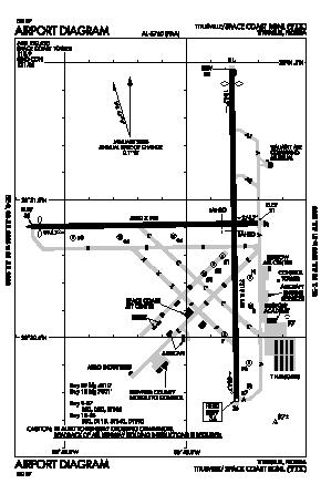 Space Coast Regional Airport (TIX) diagram