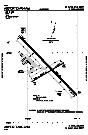 St Cloud Regional Airport (STC) diagram
