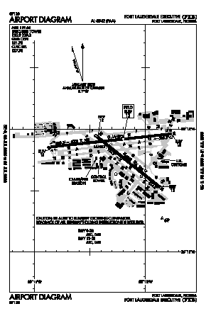 Fort Lauderdale Executive Airport (FXE) diagram