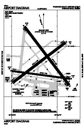 Pompano Beach Airpark Airport (PMP) diagram