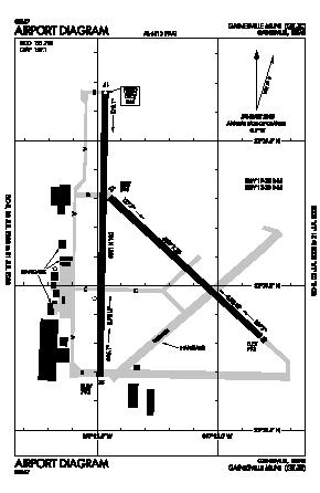 Gainesville Municipal Airport (GLE) diagram