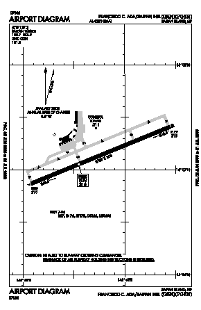 Francisco C. Ada/saipan International Airport (GSN) diagram