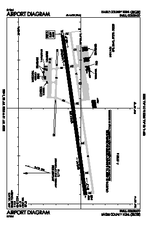 Eagle County Regional Airport (EGE) diagram