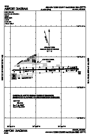 Cobb County-mc Collum Field Airport (RYY) diagram