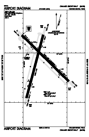 Orange Grove Nalf Airport (NOG) diagram