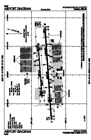 Phoenix Deer Valley Airport Dvt Map Aerial Photo Diagram