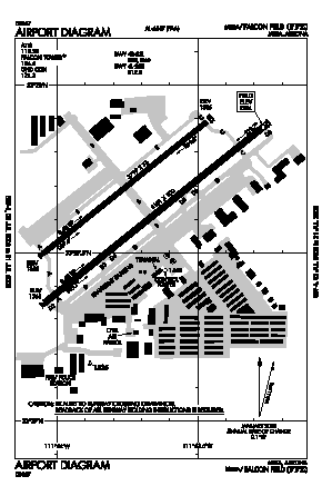 Falcon Fld Airport (FFZ) diagram