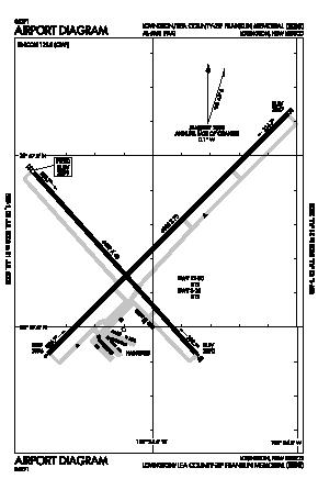 Lea County-zip Franklin Memorial Airport (E06) diagram