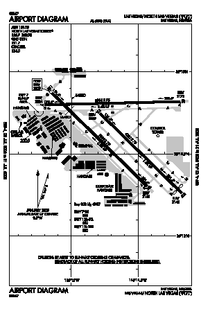 North Las Vegas Airport (VGT) diagram