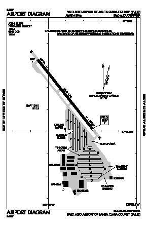 Palo Alto Arpt Of Santa Clara Co Airport (PAO) diagram