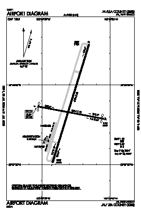 Lea County/jal/ Airport (E26) diagram