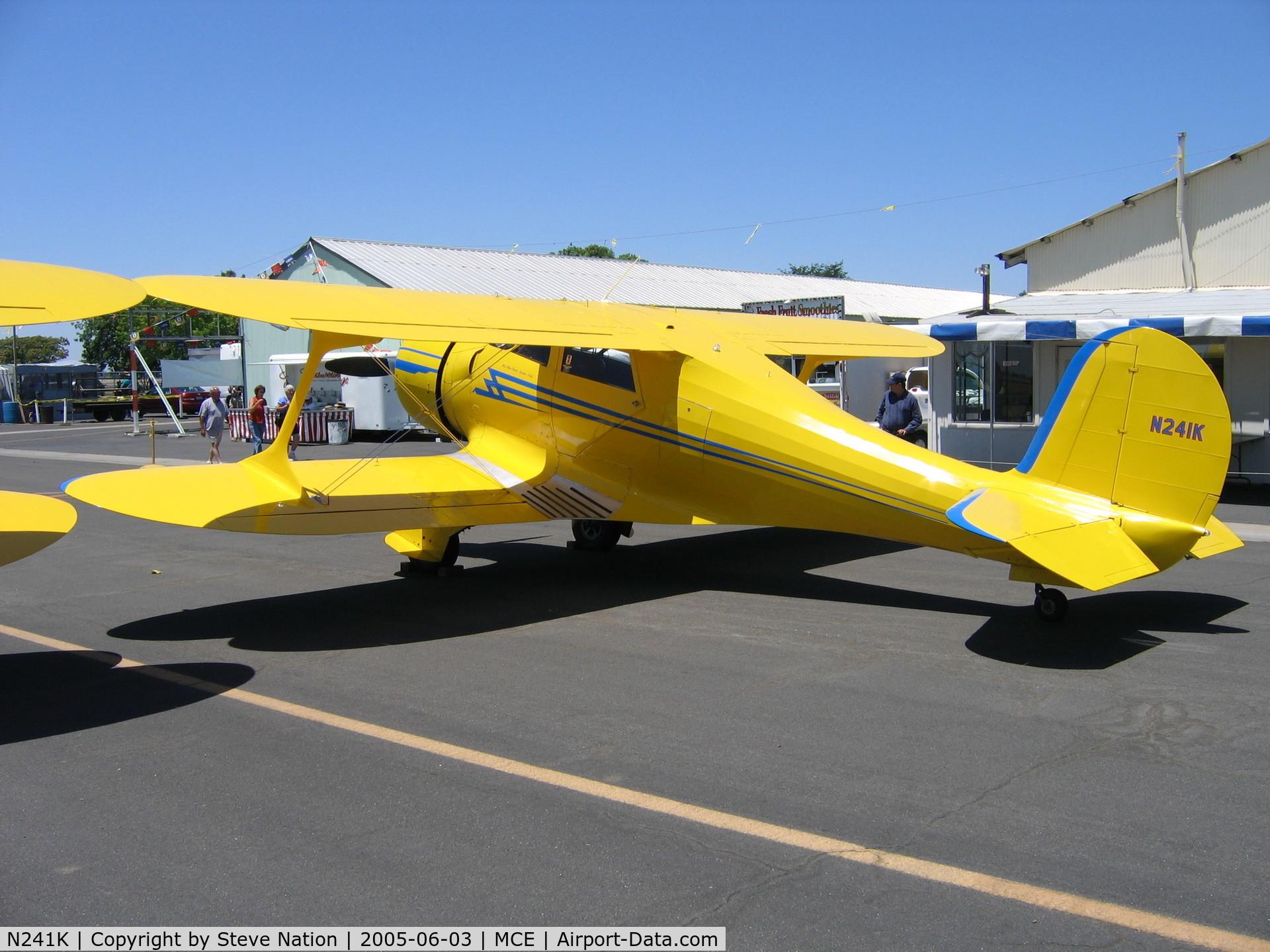 N241K, 1939 Beech D17S Staggerwing C/N 287, Beautiful 1939 Beech D17S at Merced, CA