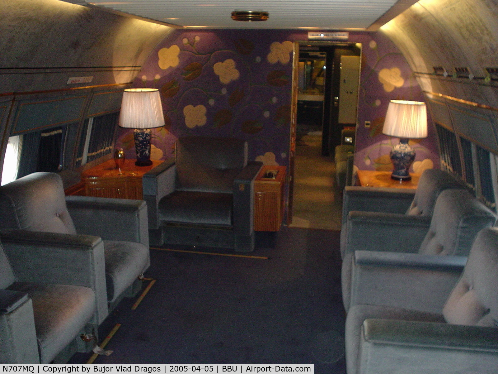 N707MQ, 1977 Boeing 707-368C C/N 21368, Photos taken inside N707MQ VIP ex Royal Saudi Fleet