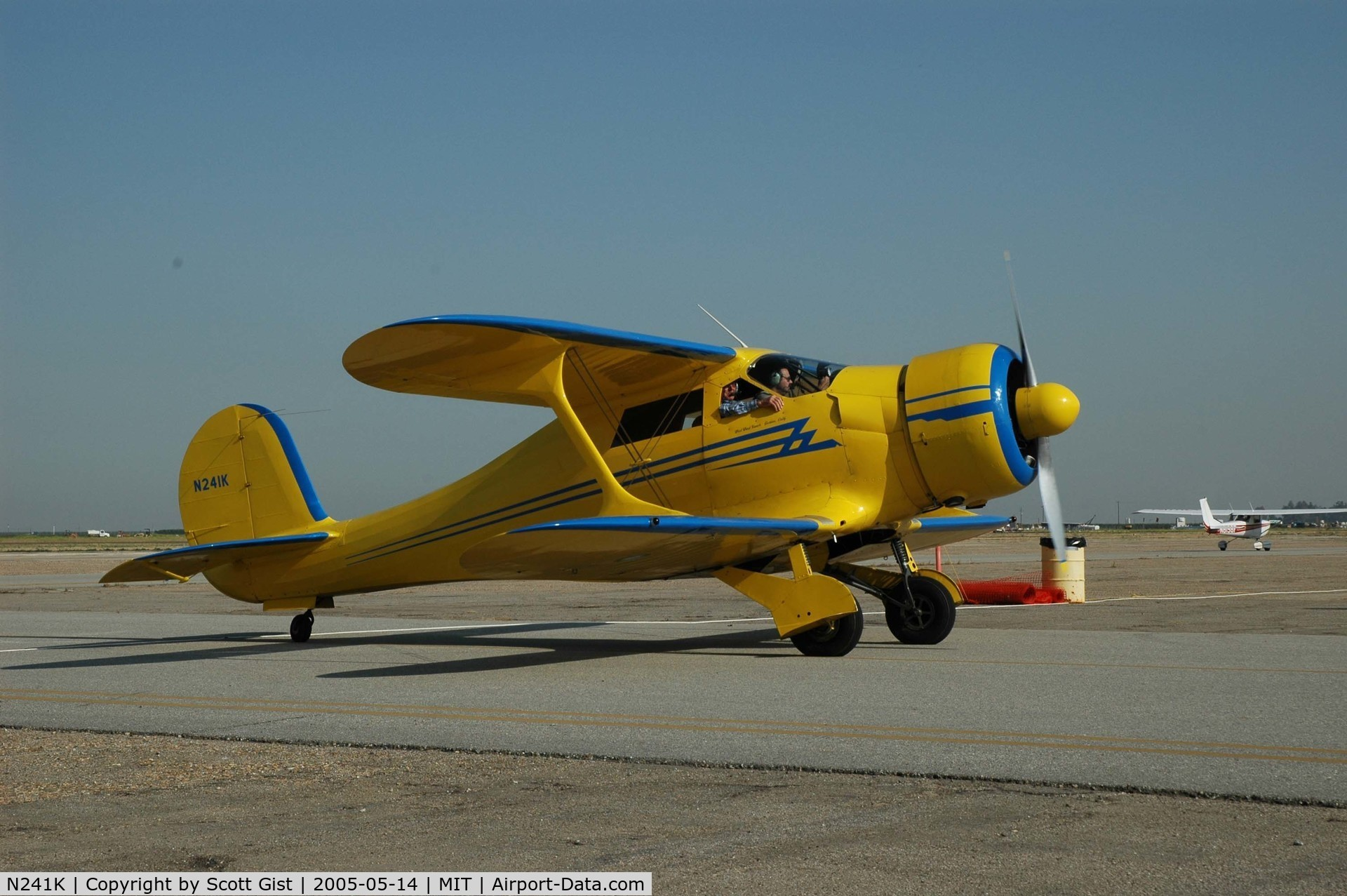 N241K, 1939 Beech D17S Staggerwing C/N 287, Great looking aircraft at Shafter Ca. Airshow