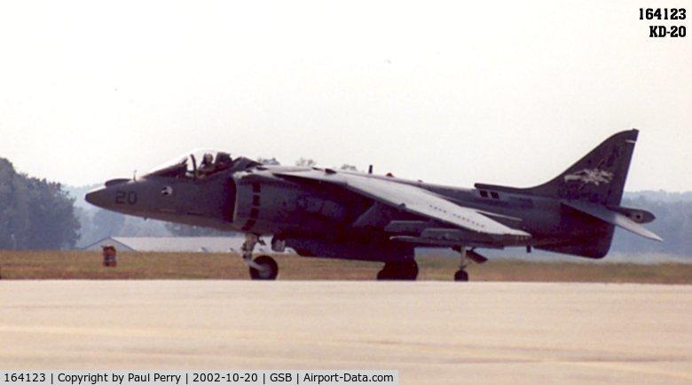 164123, McDonnell Douglas AV-8B Harrier II C/N 199, Returning from another crowd-pleasing V/STOL demo
