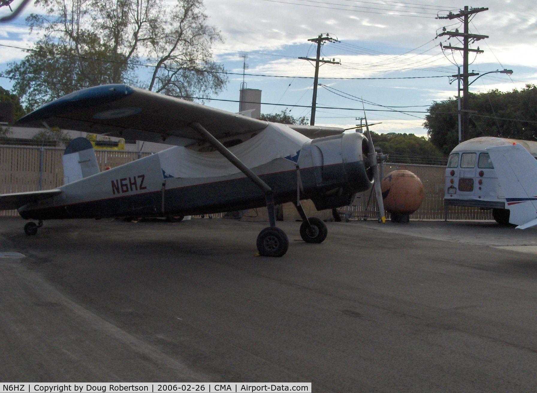 N6HZ, Max Holste MH-1521M Broussard C/N 25C, Avions Max Holste M.H.1521M BROUSSARD, P&W R-985 450 Hp