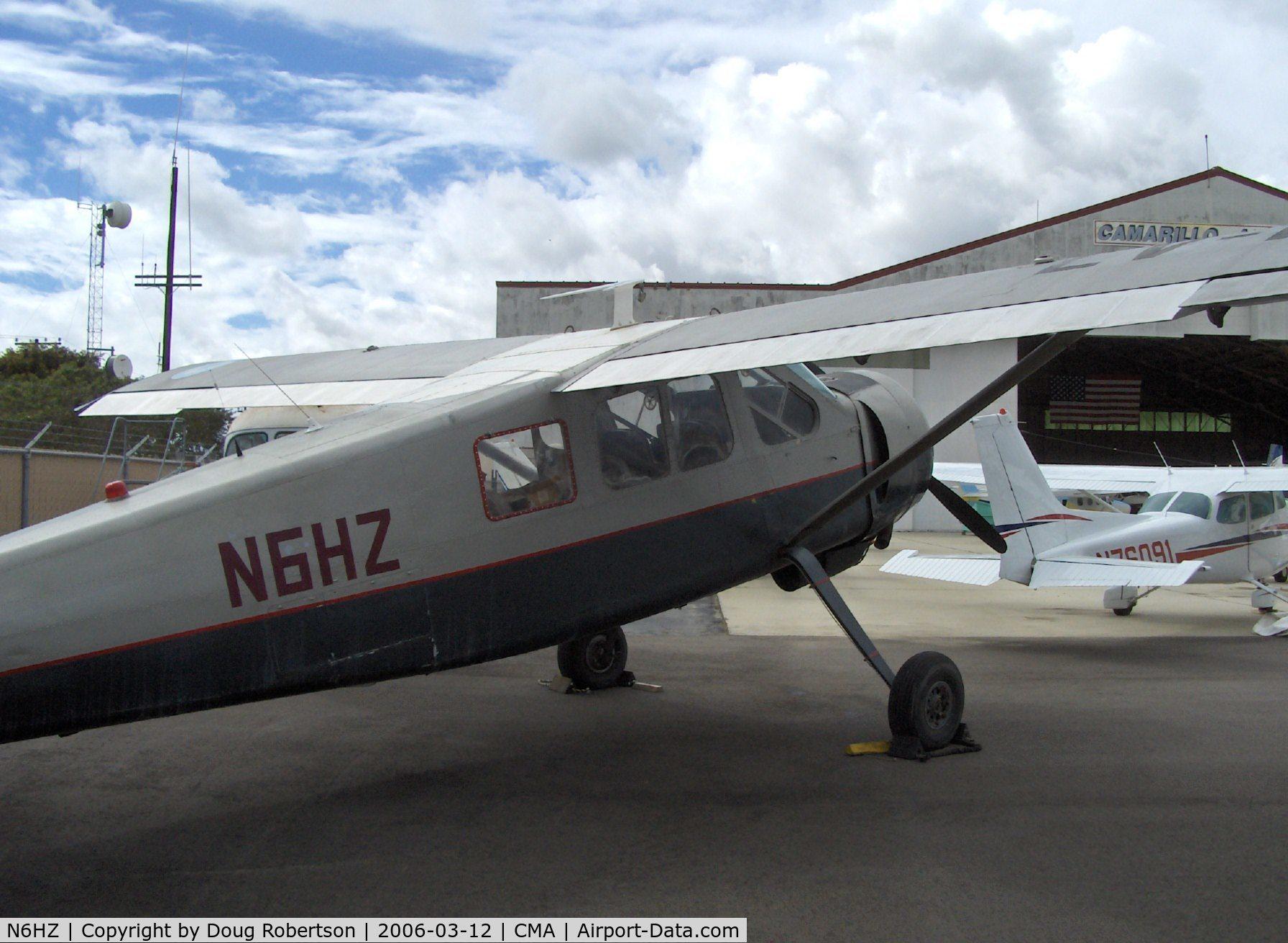 N6HZ, Max Holste MH-1521M Broussard C/N 25C, Avions Max Holste M.H.1521M BROUSSARD, P&W R-985 450 Hp, cabin cover removed