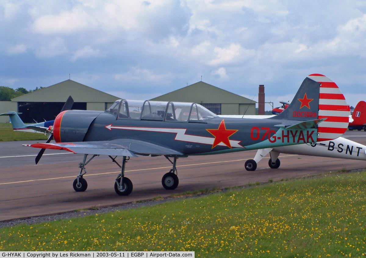 G-HYAK, 1990 Bacau Yak-52 C/N 9011107, IDA Bacau Yakovlev Yak-52
