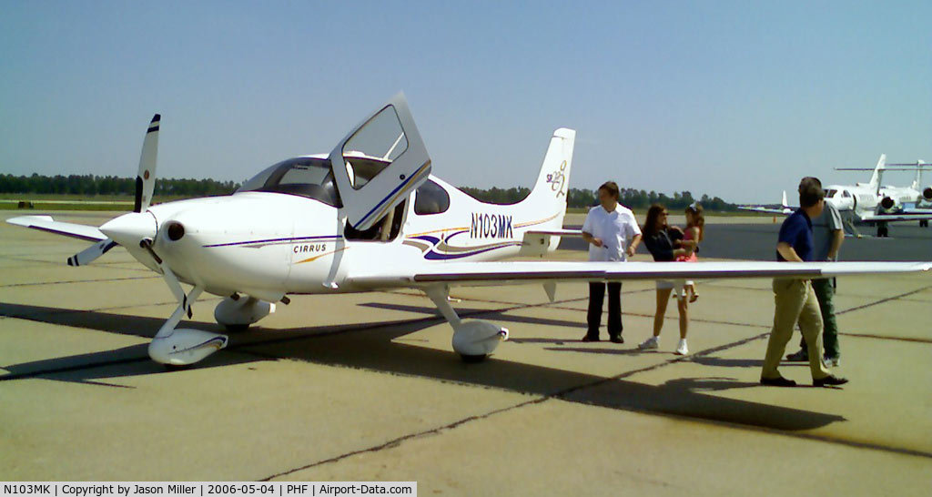 N103MK, 2005 Cirrus SR22 C/N 1444, Taken on the PHF ramp just before a flight