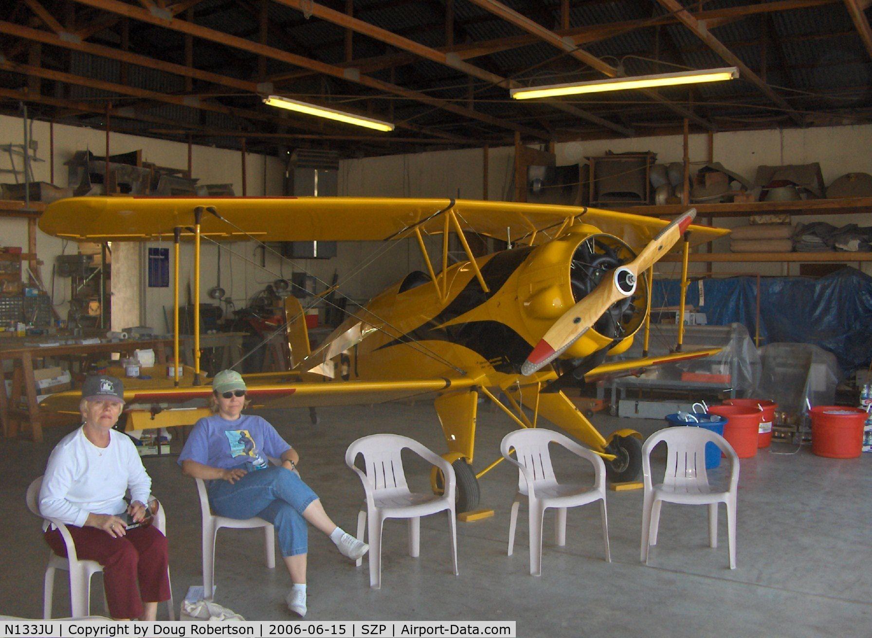 N133JU, 1936 Bucker Bu-133C Jungmeister C/N 1001, 1936 Bucker Jungmeister 133C, Siemens-Halske SH 14-A4 radial 160 Hp, in Krybus host hangar, Bucker Fly-In
