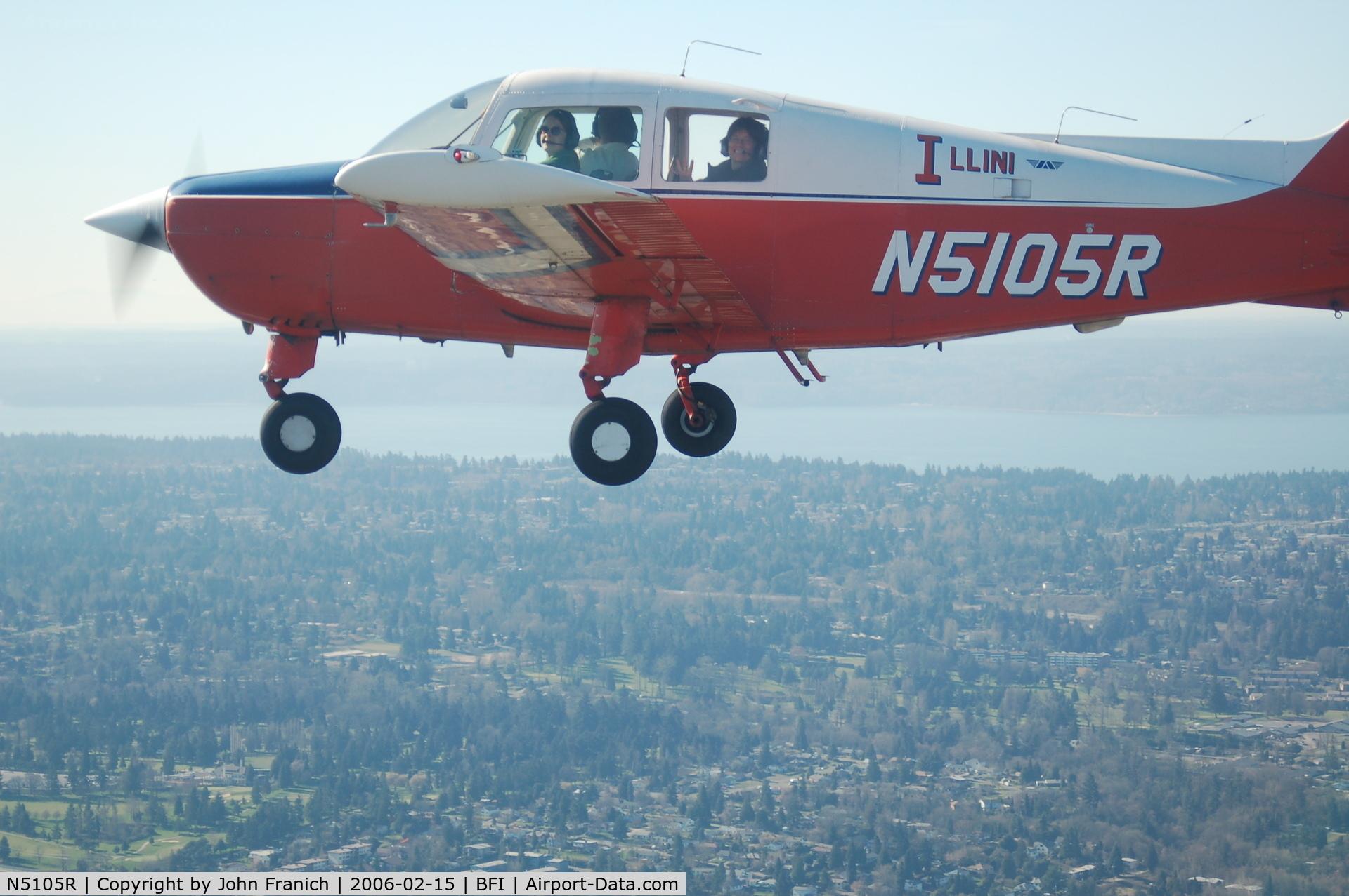 N5105R, 1974 Beech B19 Sport 150 C/N MB-639, Flight of 2 transition BFI
