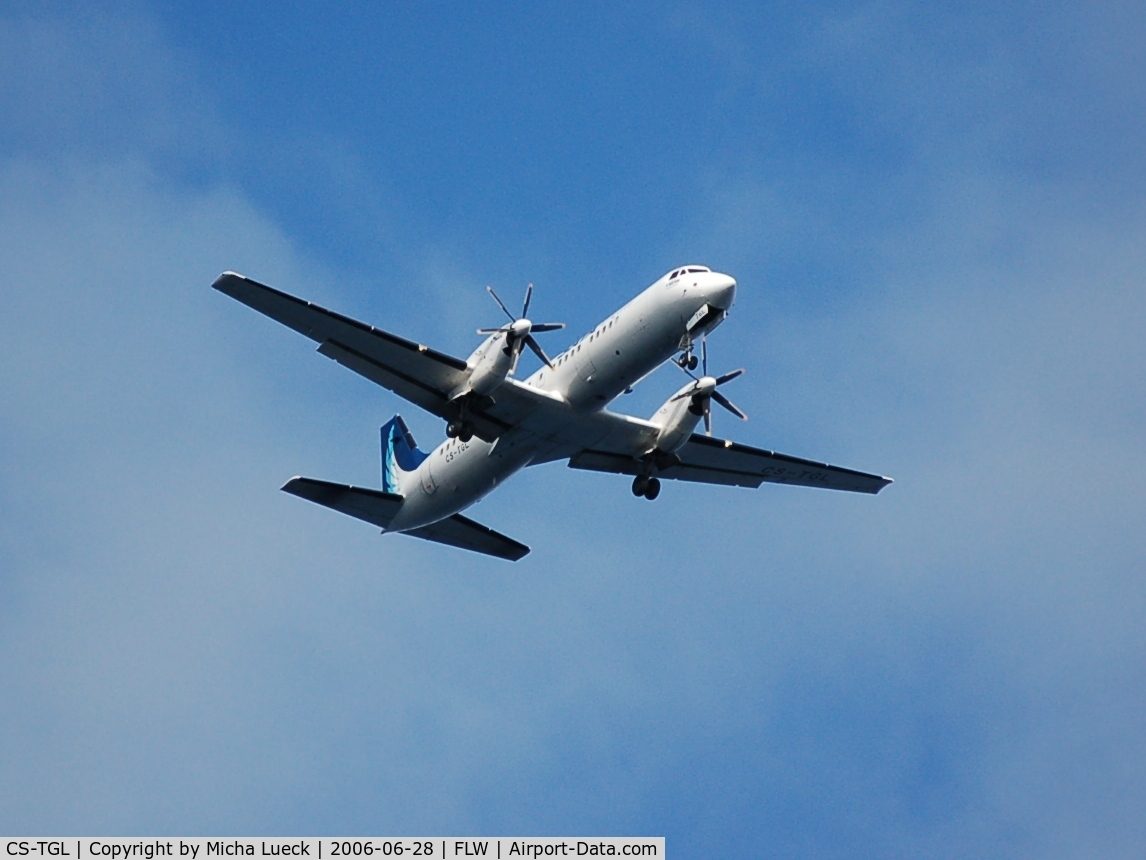 CS-TGL, 1989 British Aerospace ATP C/N 2019, Climbing out of Santa Cruz on Flores/Azores