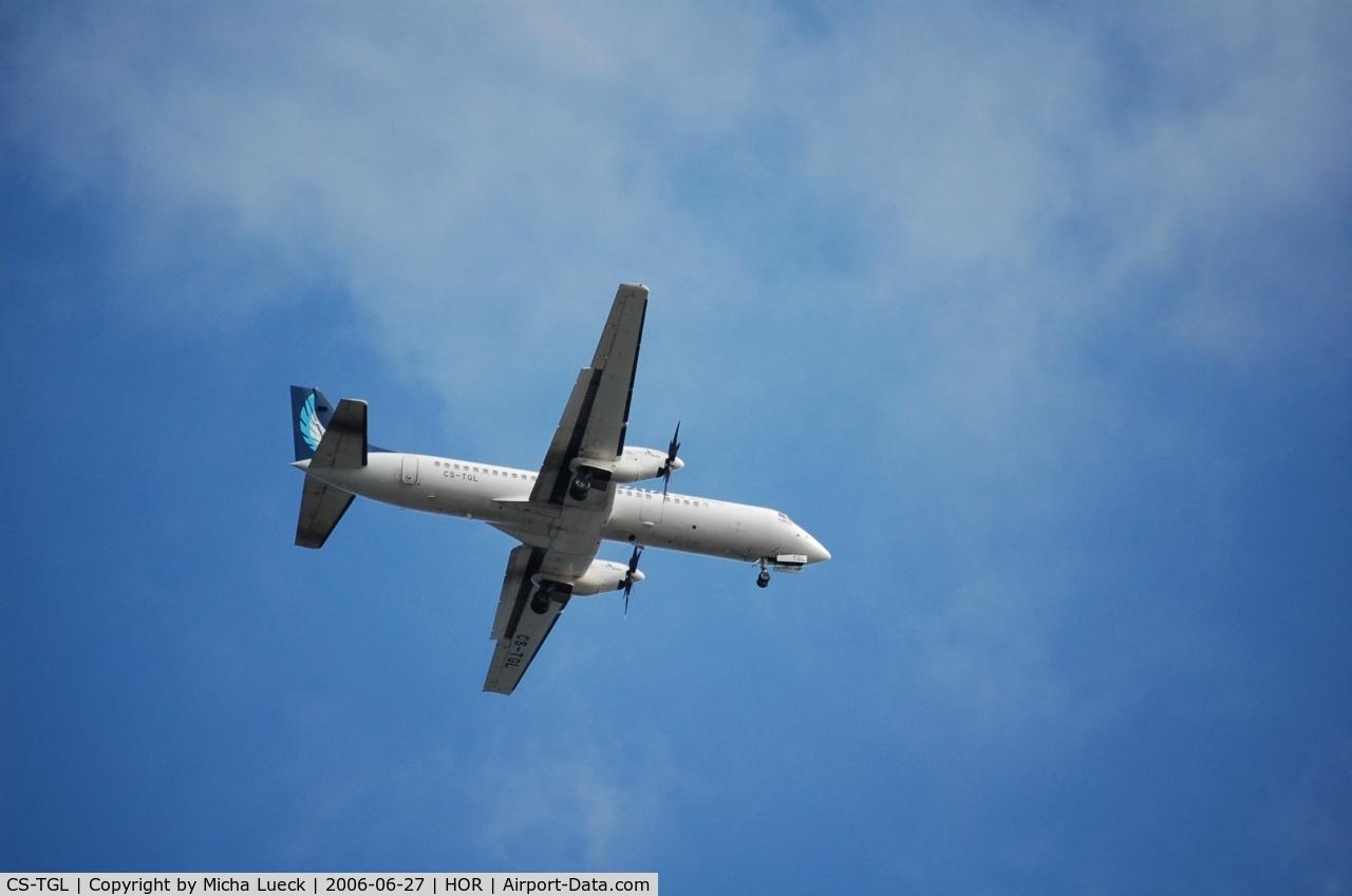 CS-TGL, 1989 British Aerospace ATP C/N 2019, On approach to Horta/Azores