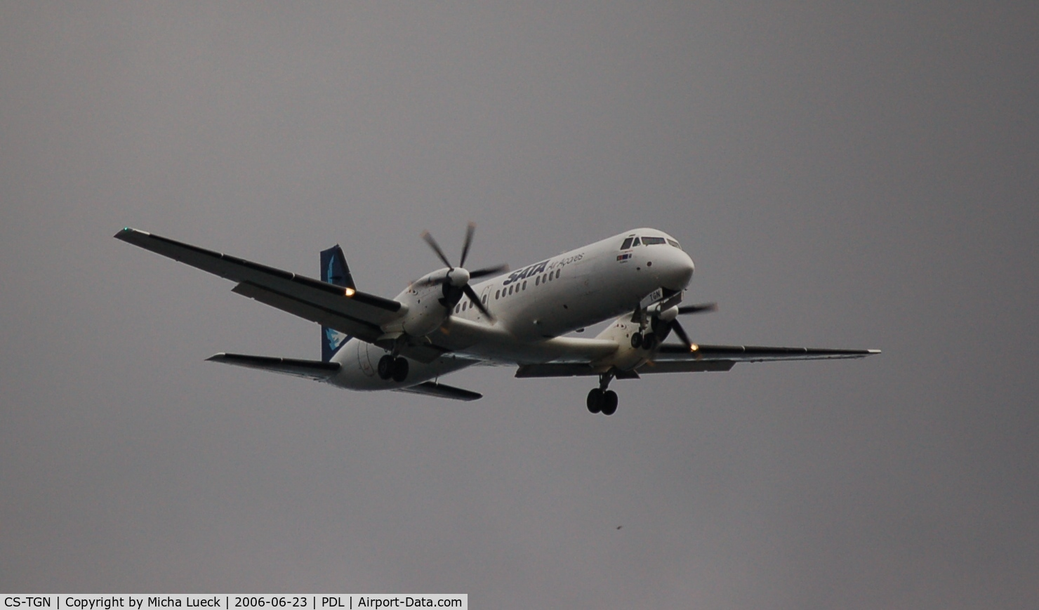CS-TGN, 1990 British Aerospace ATP C/N 2031, On approach to Ponta Delgada/Azores
