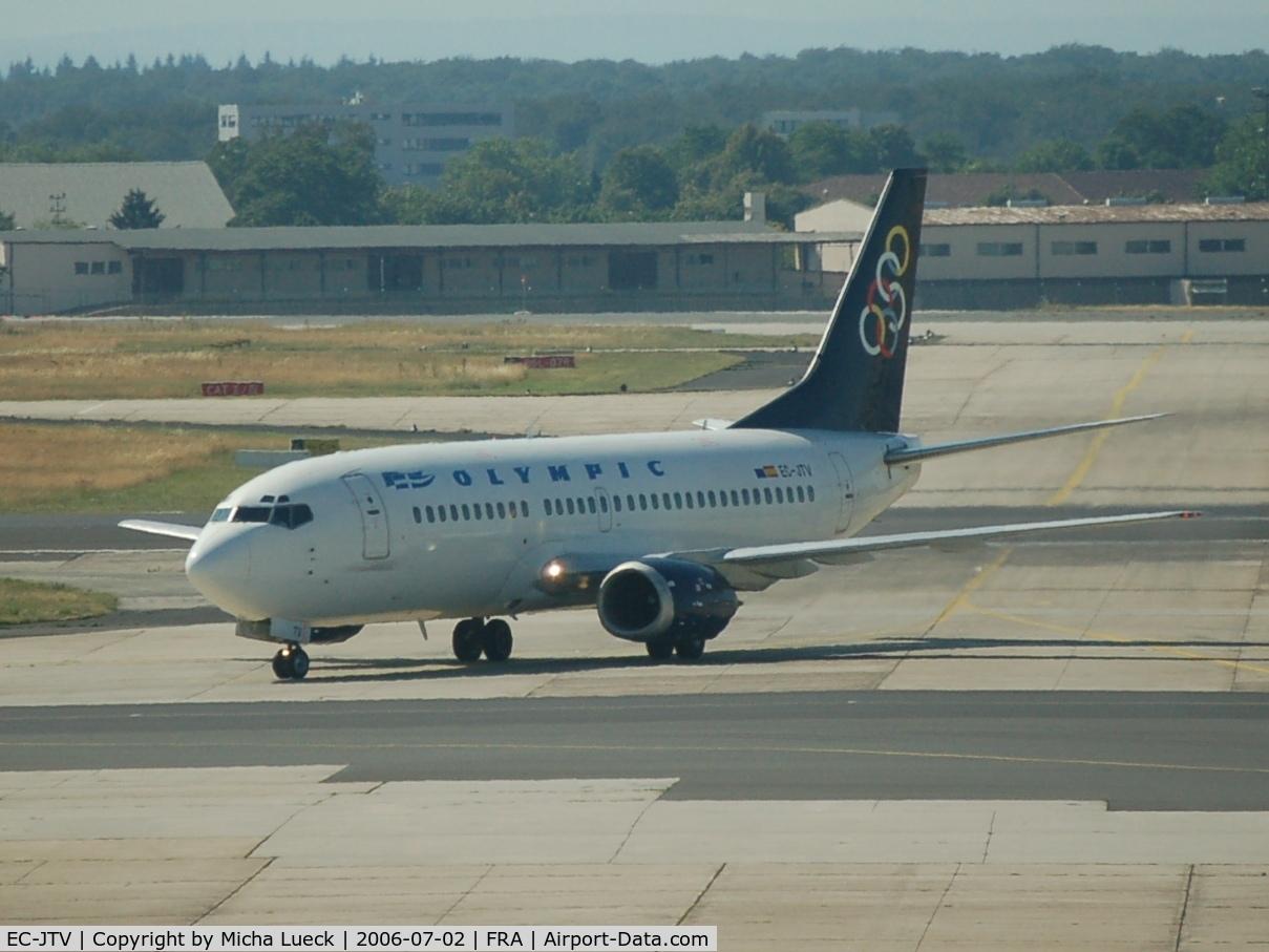 EC-JTV, 1988 Boeing 737-33A C/N 24027, Greece's Olympic Airways