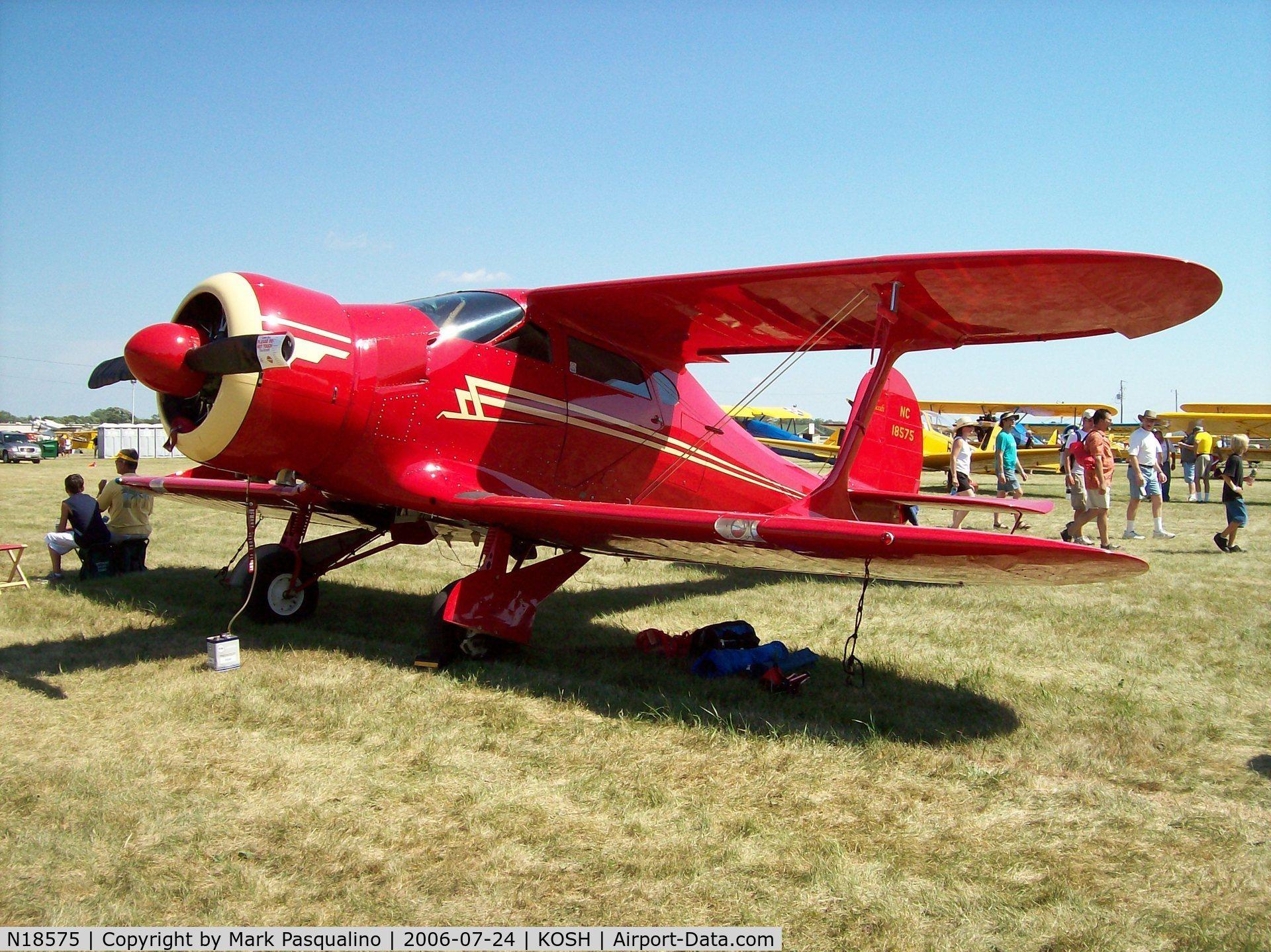 N18575, 1937 Beech D17S Staggerwing C/N 179, Beech D17S