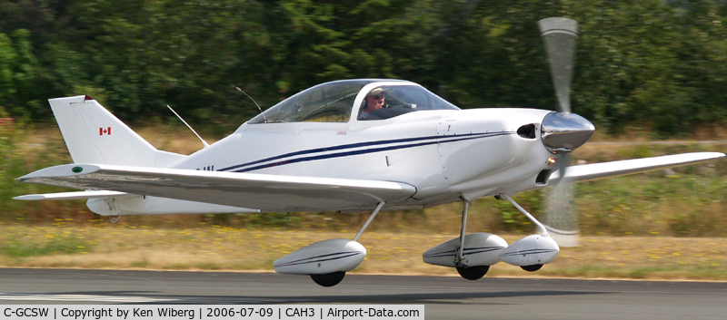 C-GCSW, 2003 Smyth Sidewinder C/N 212158, Rotating out of RWY 13 at Courtenay Airpark, Vancouver Island.