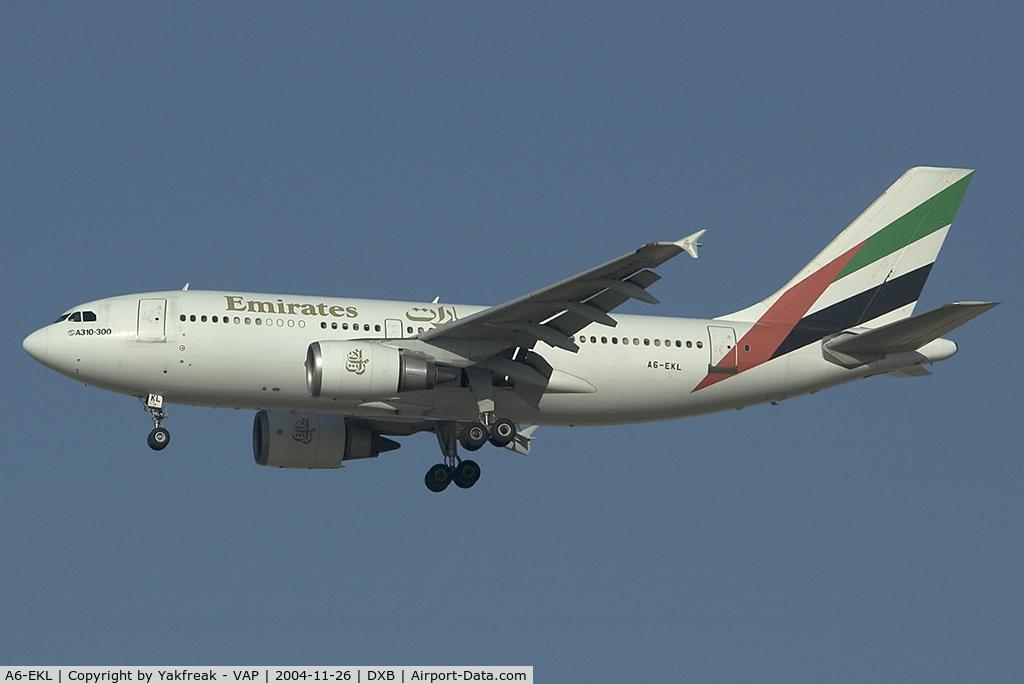 A6-EKL, 1993 Airbus A310-308 C/N 667, Emirates Airbus 310-300