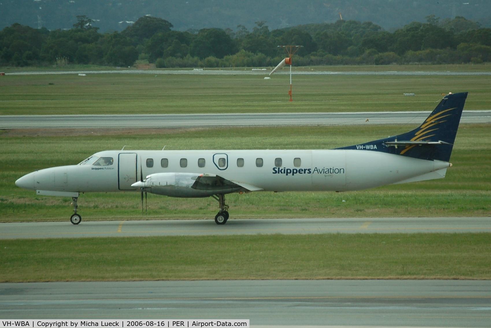VH-WBA, 1995 Fairchild SA-227DC Metro 23 C/N DC-883B, Just arrived at Perth