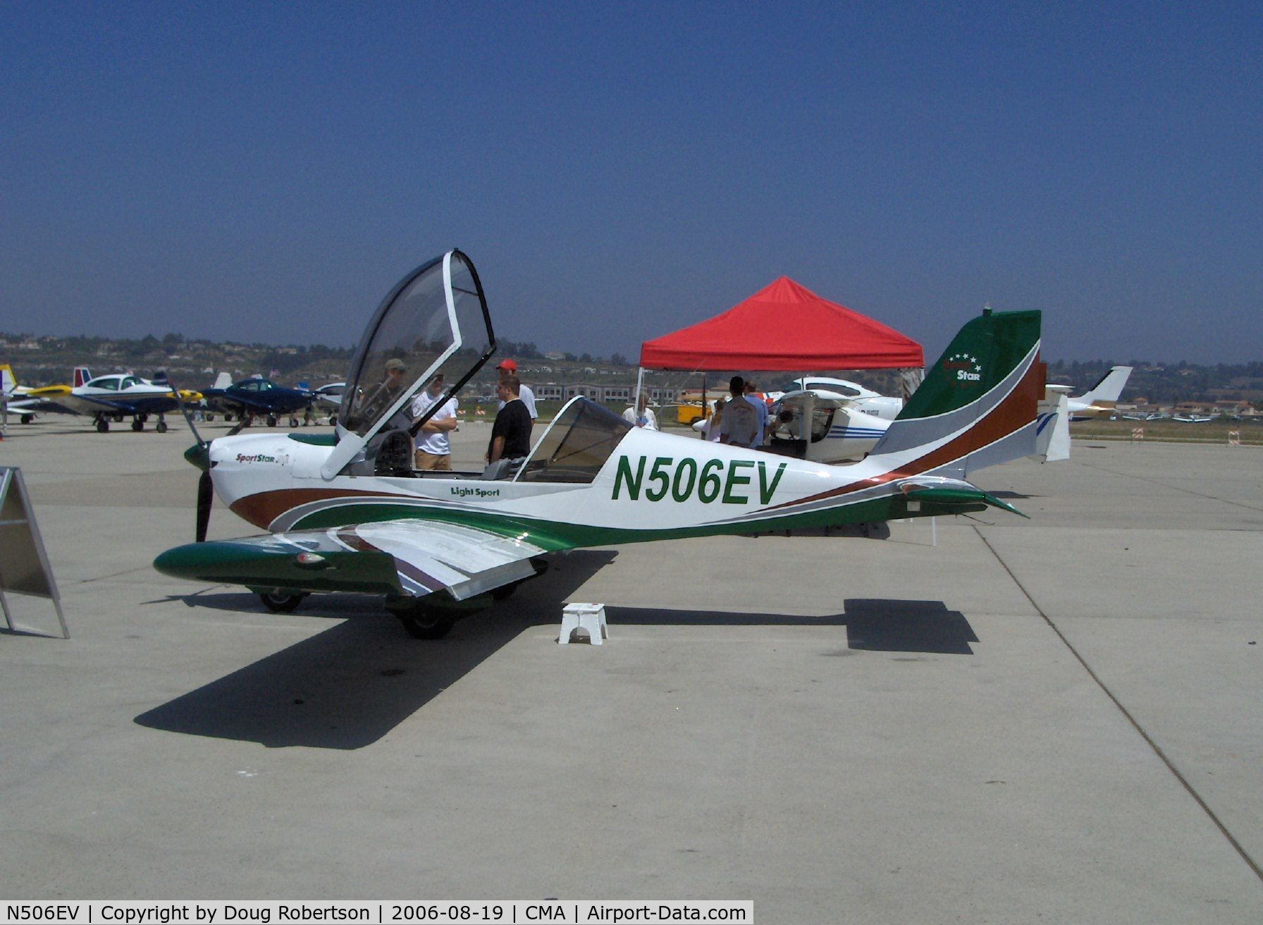 N506EV, 2006 Evektor-Aerotechnik Sportstar C/N 2006 0506, 2006 Evektor-Aerotechnik EV-97 SPORTSTAR, Rotax power, Light Sport Aircraft, the first LSA model approved by the USA FAA was the SPORTSTAR, called EUROSTAR in Europe with over 400 flying worldwide.