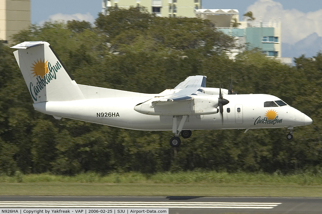 N926HA, Boeing DHC-8-102 C/N 114, Carribean Sun Dash8-100